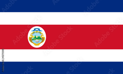 flag of costa rica Canvas Print