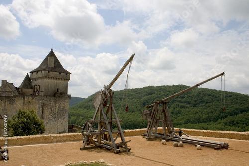 Fotografía  trebuchets in castelnaud, france