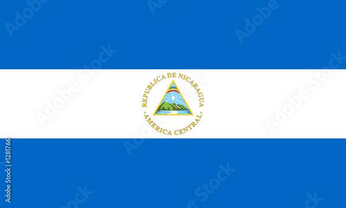 Obraz na plátně flag of nicaragua