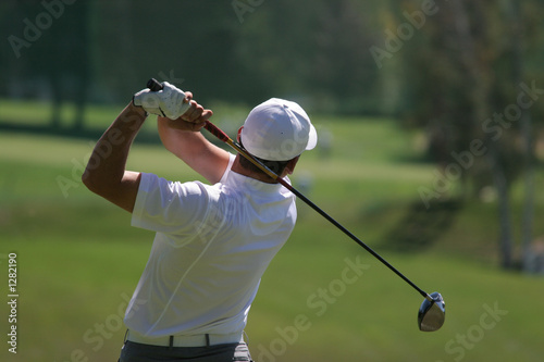 Fotobehang Golf golf swing finish