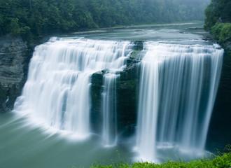 Fototapeta Wodospad middle falls, genesee river, letchworth state park, new york