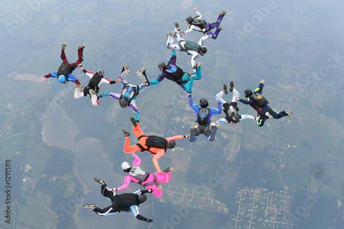 Fotografie, Obraz skydive, 12 way