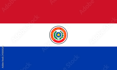 Photo flag of paraguay (obverse)