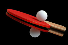 Table Tennis Ball And Paddle