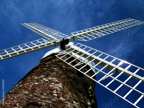 Poster Molens windmill from below