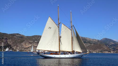 Cadres-photo bureau Navire yacht under sail