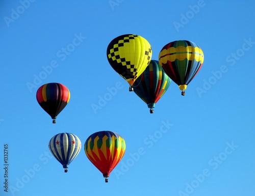 Poster Montgolfière / Dirigeable hot air balloons