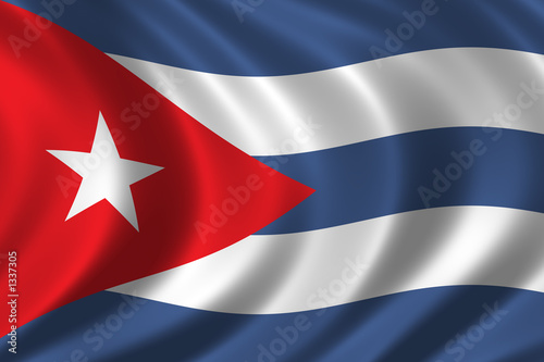 flag of cuba Fototapet