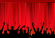 Leinwanddruck Bild - audience &  red curtains
