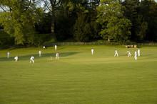 Cricket Match On A Summer Evening Ashford In The W