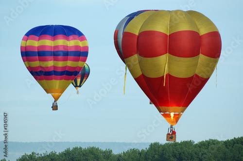 montgolfières Canvas Print