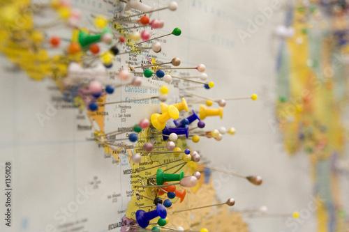 In de dag Wereldkaart mapa