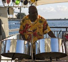 Musician On Steel Drums