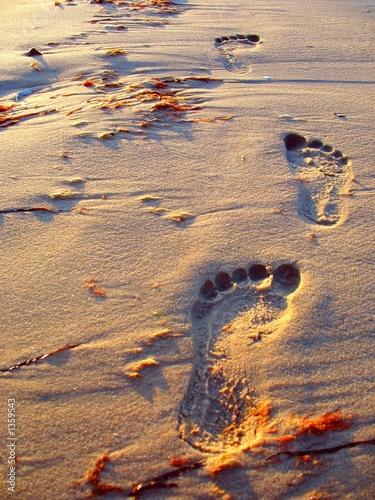 Foto-Kissen - Fußspuren im Sand