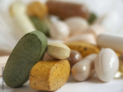 Fototapeta stack of vitamins obraz