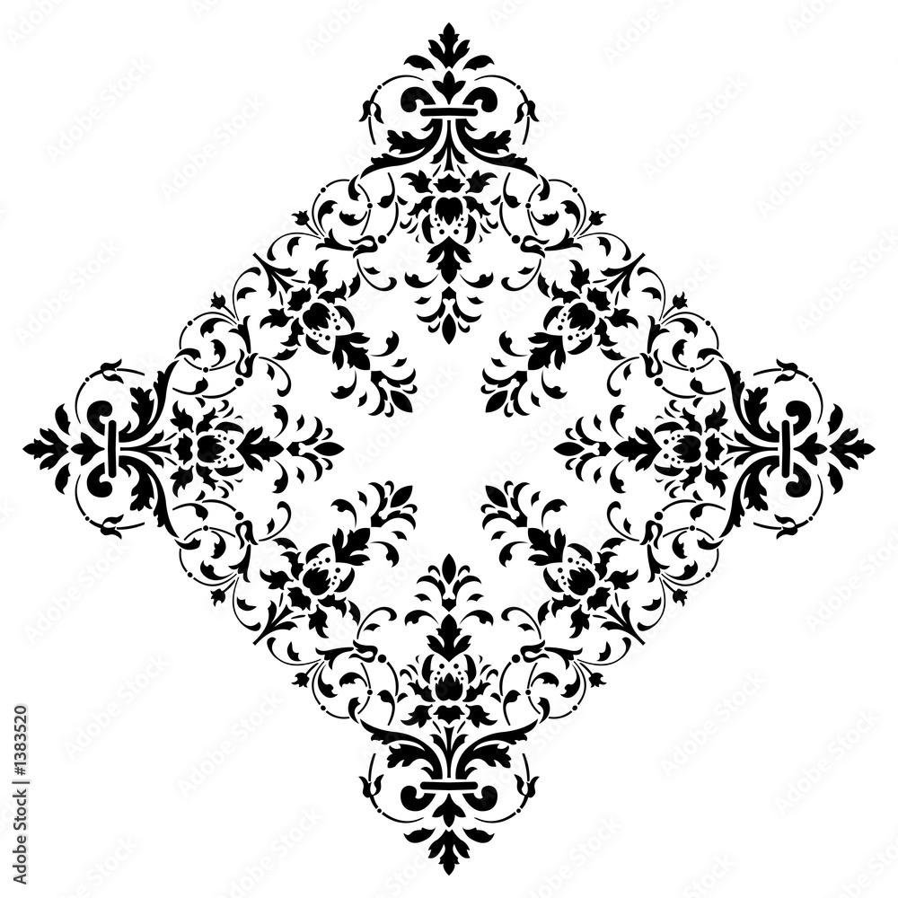 Leinwandbild Motiv - WaD : floral background