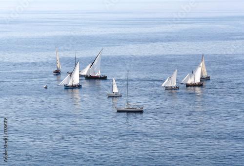 Staande foto Zeilen voiliers au départ