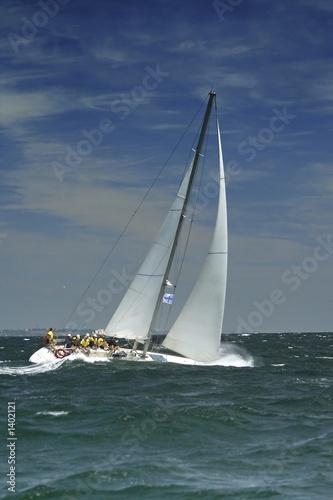 Garden Poster sailing sport. storm
