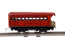 Red Toy Train Passenger Caboose
