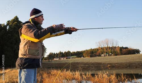 Fototapety, obrazy: flyfishing #18