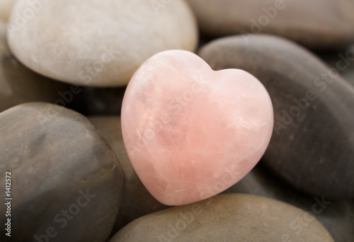 Obraz w ramie rose quartz heart
