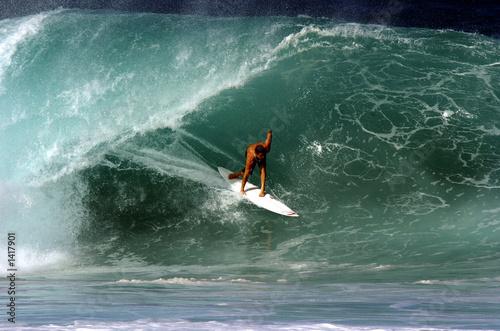 Foto-Schiebegardine Komplettsystem - surfer