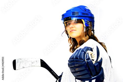Photo  hockey girl