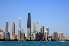 Chicago Skyline From Lake Mich...