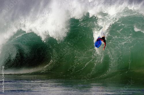 Stickers pour porte Eau waimea bay shorebreak wave
