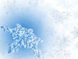 winter snowflake background