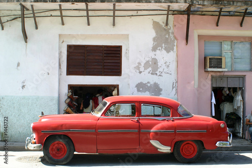 Deurstickers Cubaanse oldtimers american car, cuba