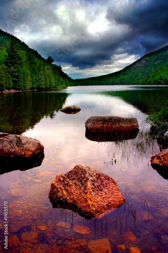 jordan pond, acadia national park Canvas Print