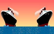 2 Ships At Sea