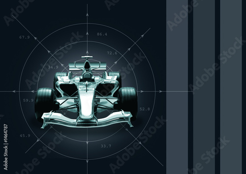 Spoed Foto op Canvas F1 formula 1 car - speed concept