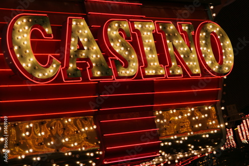 Fotografie, Obraz  bright casino sign
