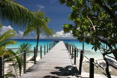 paradise island Tableau sur Toile