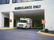 canvas print picture - ambulance at er