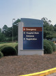 canvas print picture - hospital entrance sign