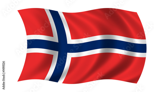 Fotografie, Obraz  norwegen fahne norway flag