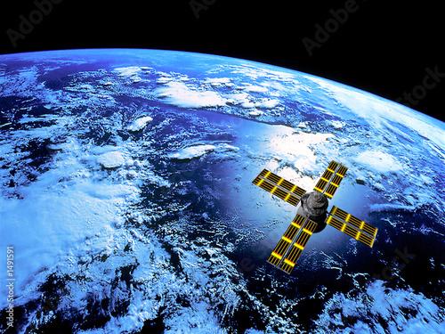 Fotografía  satellite in orbit
