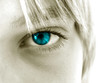 canvas print picture - blue eye