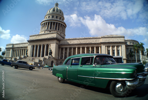 Türaufkleber Autos aus Kuba havana street