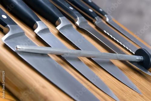kitchen knives Billede på lærred