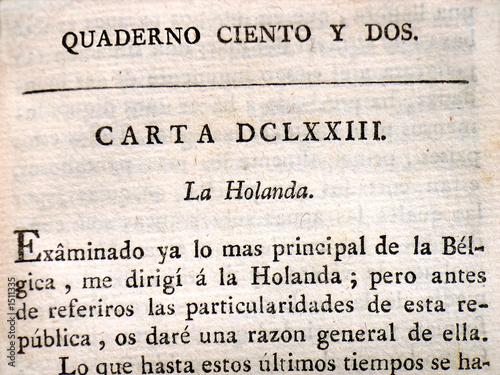 Poster Kranten ancient spanish text