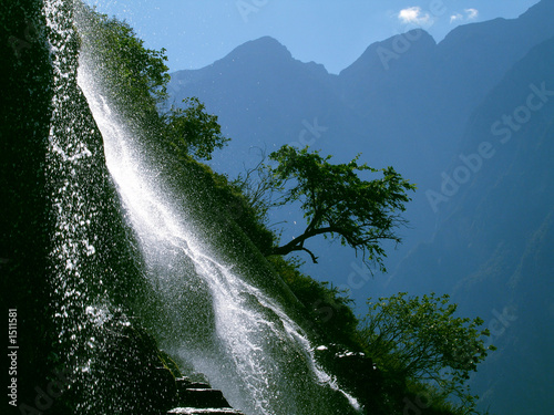 waterfall by the yangtze