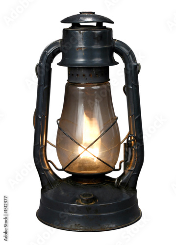 Fotografie, Obraz  oil lamp (with clipping path{