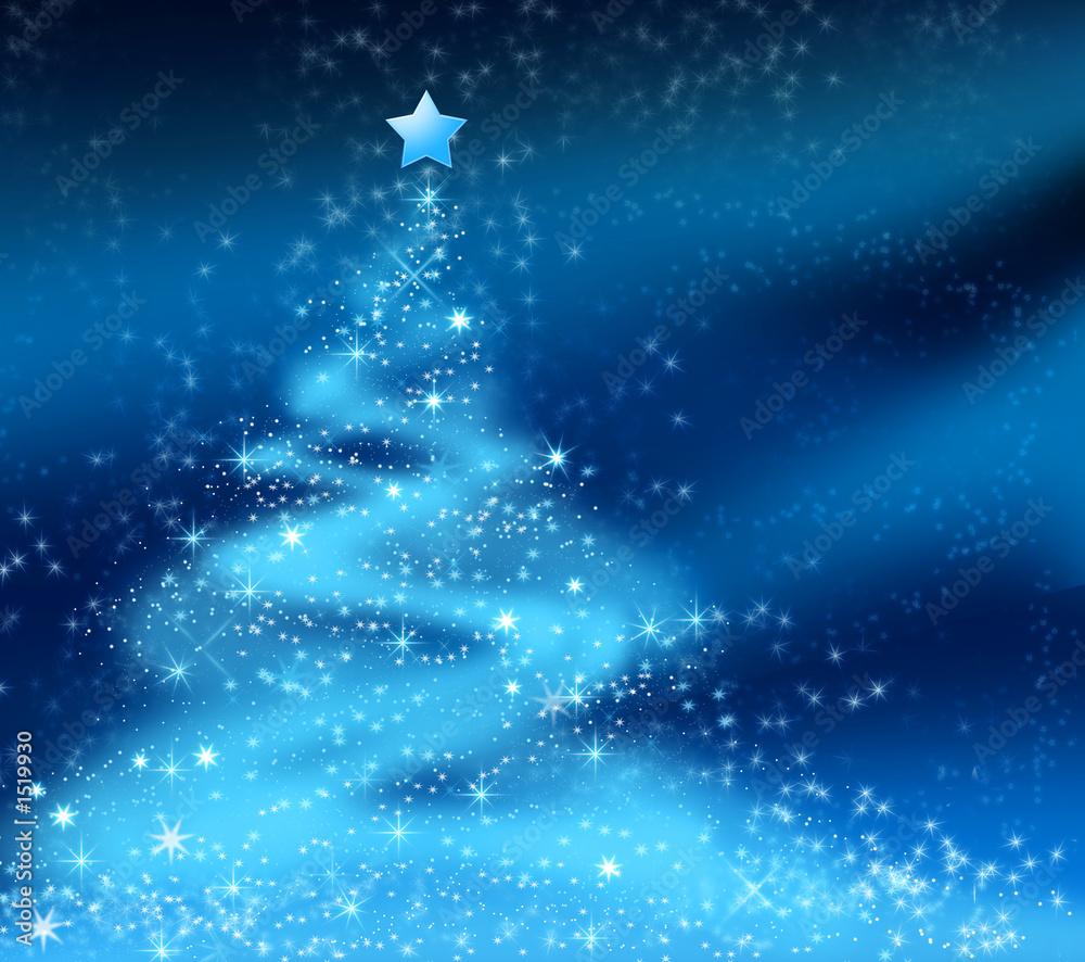 einzelne bedruckte Lamellen - abstract christmas tree