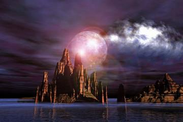 desert moon blue