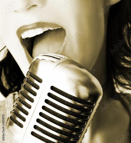 Plakat na zamówienie retro singer