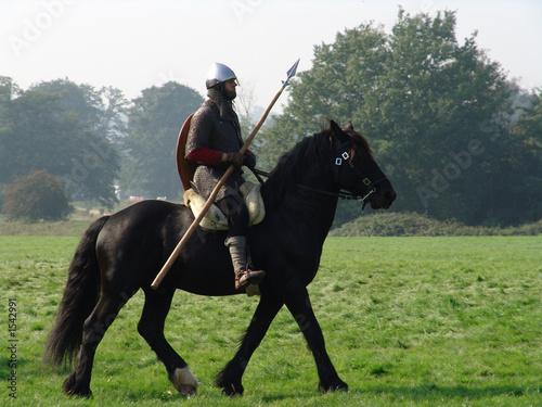 Photo norman knight on horseback